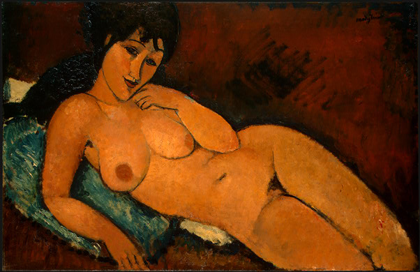 modigliani_blue_cushion